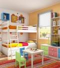 chambre enfant coloree