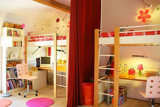 Des rideaux pour séparer les espaces des enfants