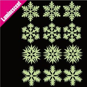 stickers phosphorescent flocon