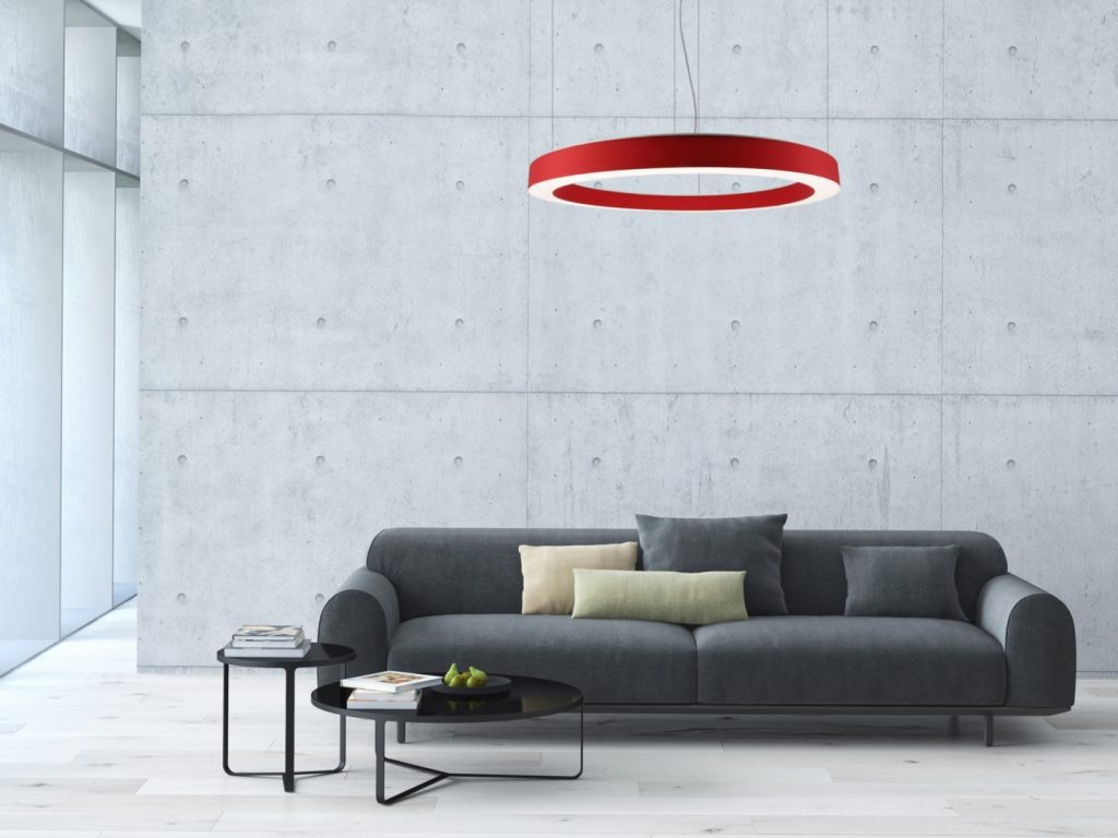 suspension-LED-rouge